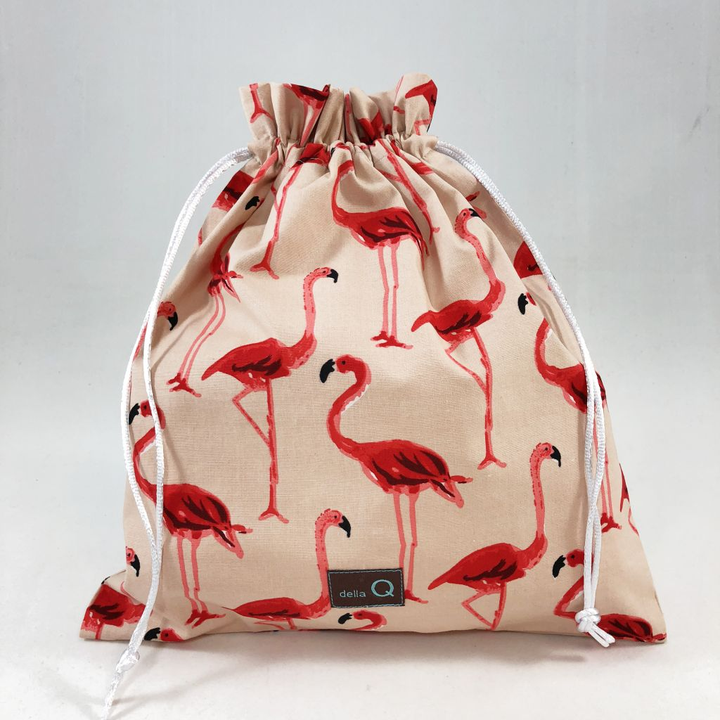 Brojektbeutel mit Flamingodruck